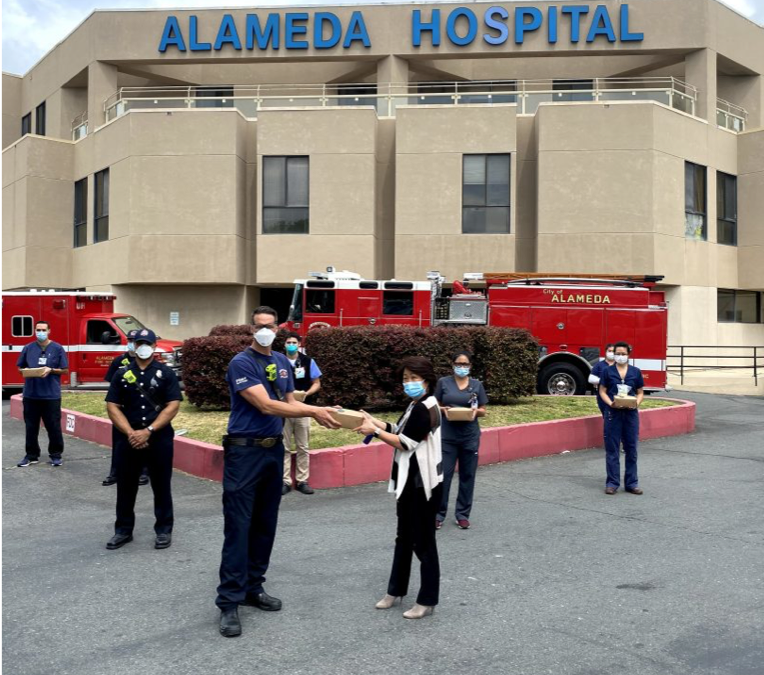 First Responders Feed the Frontline at Alameda Hospital